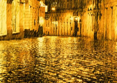 Artistic Photography by Jonny Jelinek | Golden Rain at Night in Vienna